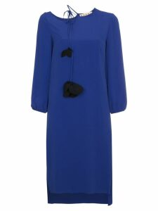 Marni flower tassel Midi dress - Blue