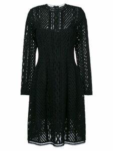 Ermanno Scervino long sleeved sheer dress - Black