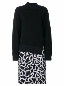 Carven link print sweat dress - Blue