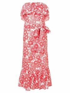 Lisa Marie Fernandez Sabine ruffle eyelet dress - Red