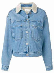 Isabel Marant Étoile fur collar denim jacket - Blue