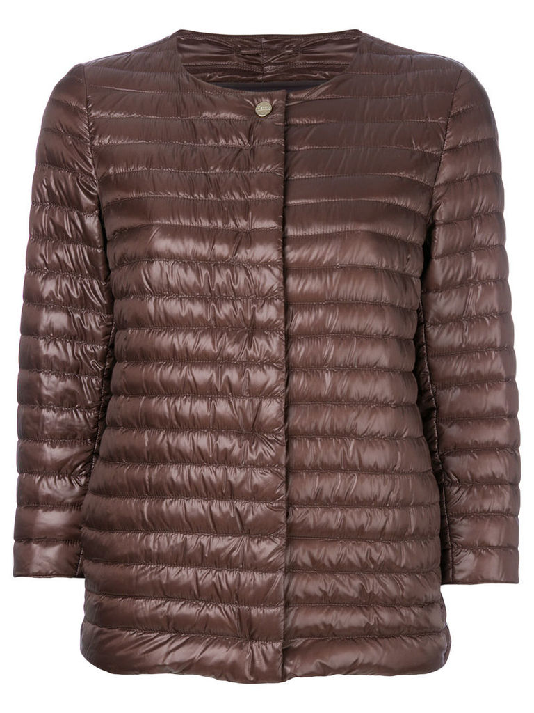 Herno padded cropped jacket - Brown