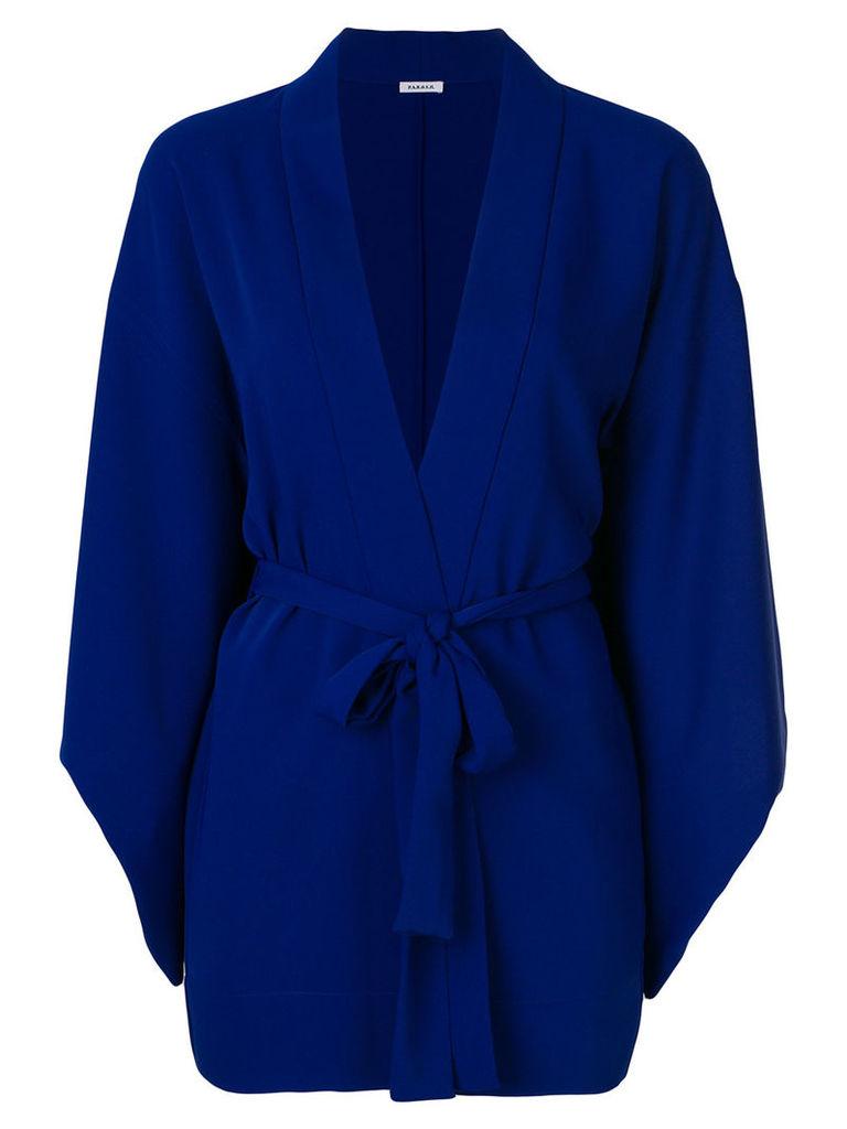 P.A.R.O.S.H. belted kimono jacket - Blue