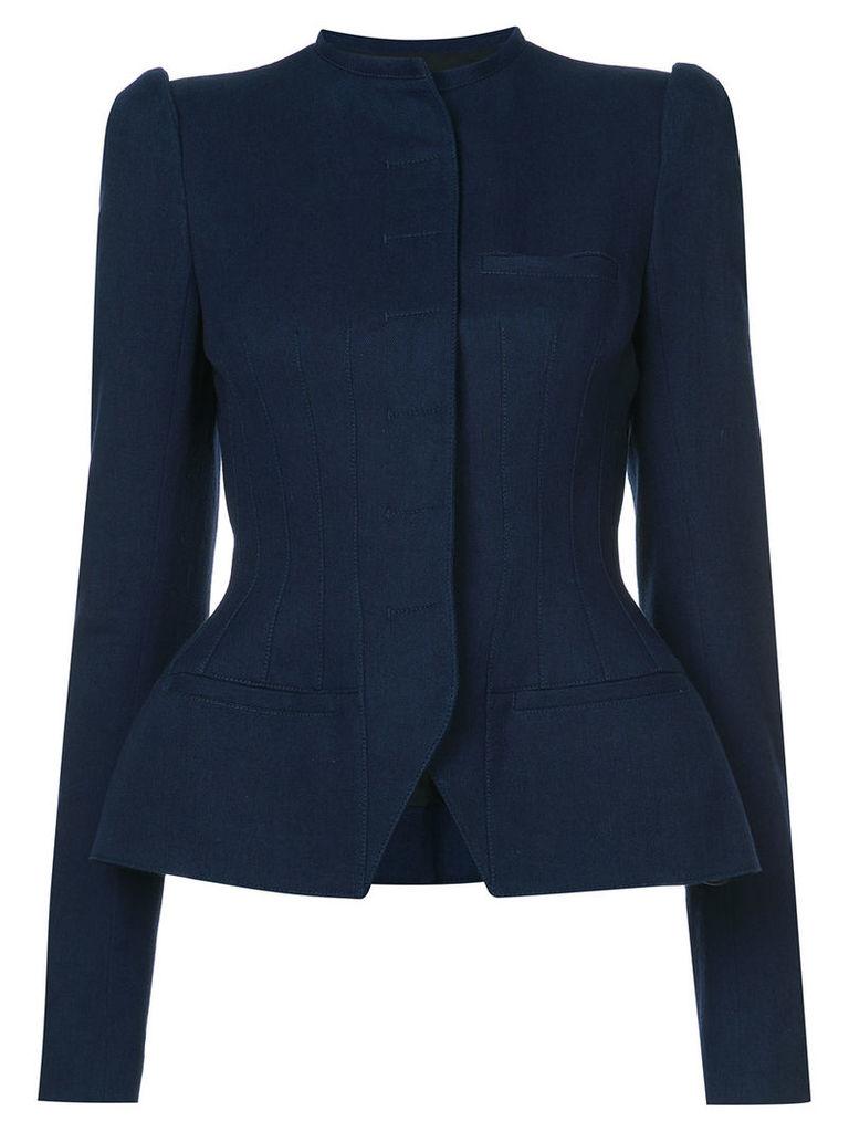 Haider Ackermann fitted formal jacket - Blue