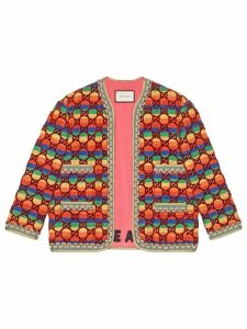 Gucci GG rainbow velvet jacket - Multicolour