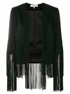 Galvan fringe panel jacket - Black