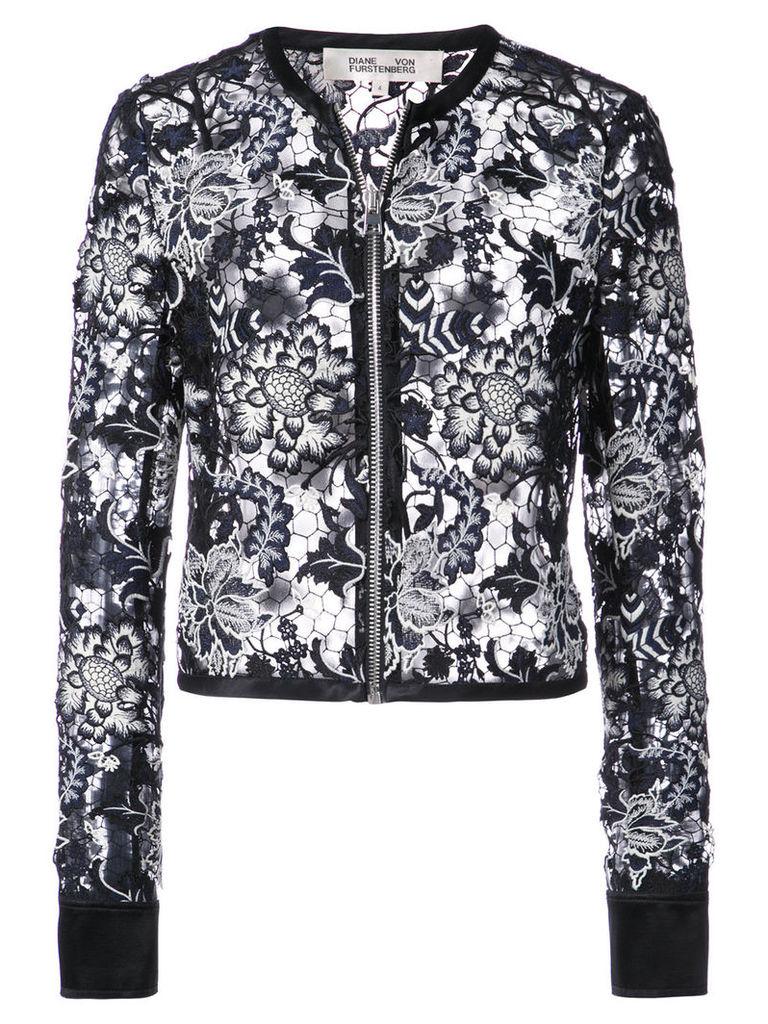 Dvf Diane Von Furstenberg sheer lace jacket - Black