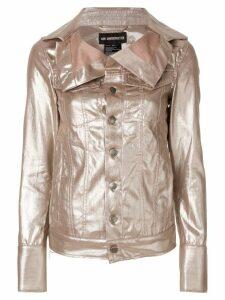 Ann Demeulemeester oversized collar jacket - Metallic