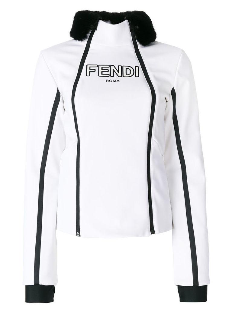 Fendi zipped fitted jacket - White