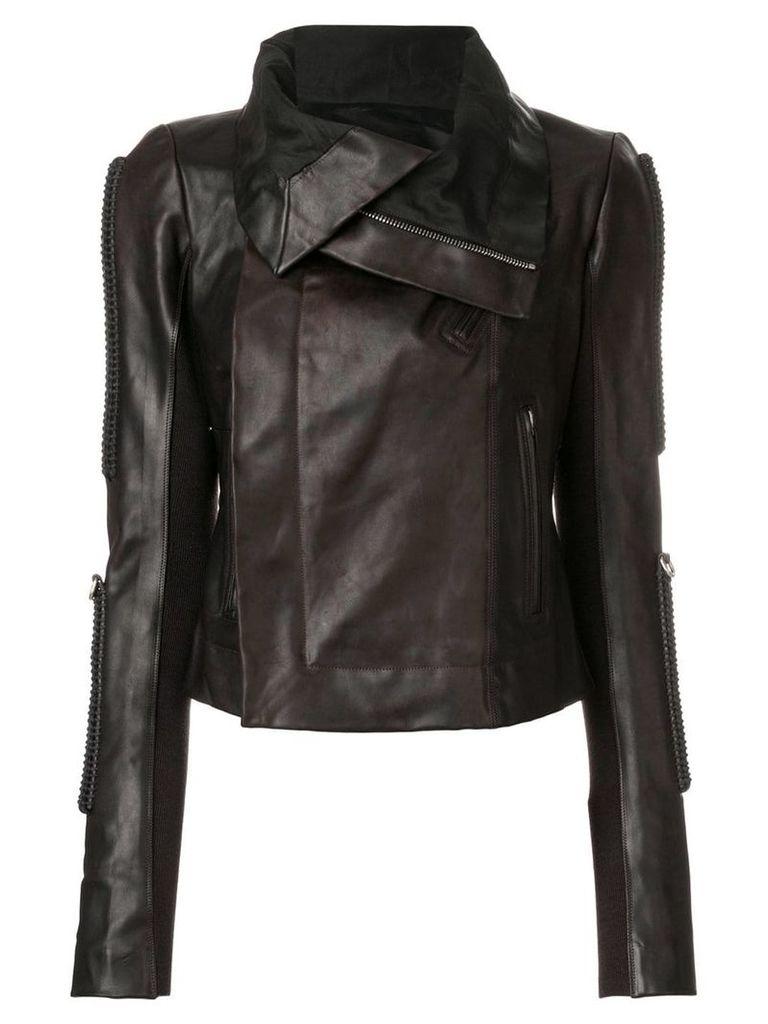 Rick Owens oversized zip jacket - Brown