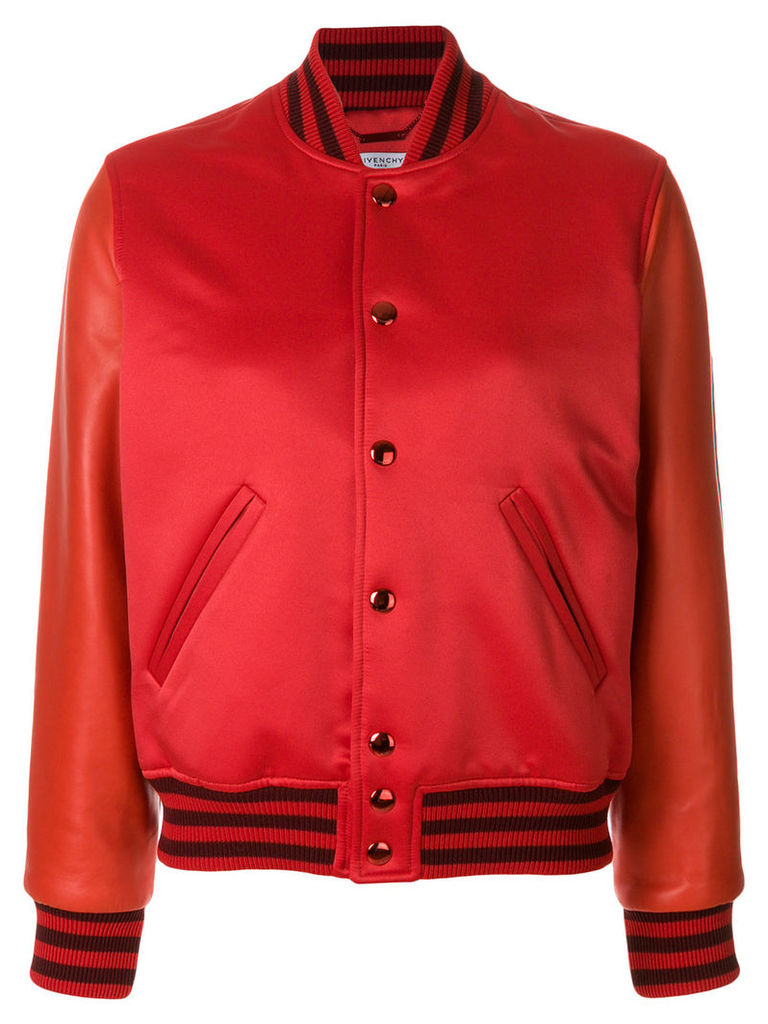 Givenchy fitted bomber jacket - Red