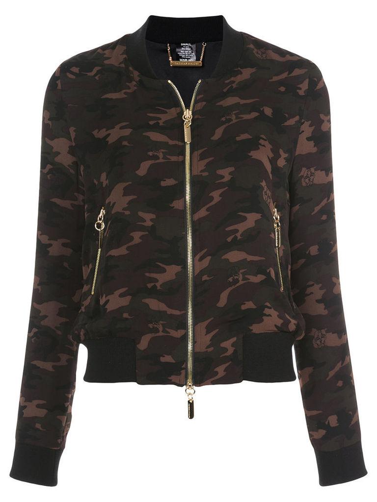 Thomas Wylde camouflage bomber jacket - Green