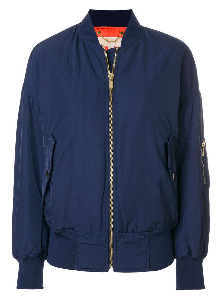Michael Michael Kors dropped shoulder bomber jacket - Blue