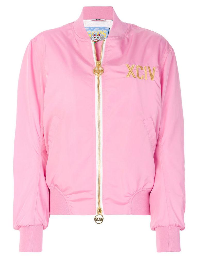 Gcds zipped bomber jacket - Pink & Purple