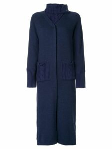 Onefifteen chunky knit longline cardigan - Blue