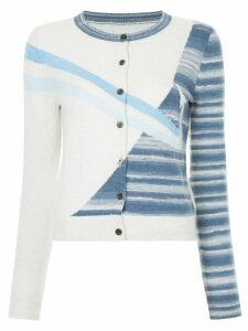 Onefifteen striped rocket cardigan - Grey