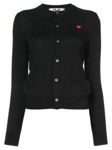 Comme Des Garçons Play heart patch cardigan - Black
