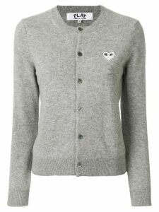 Comme Des Garçons Play round neck cardigan - Grey