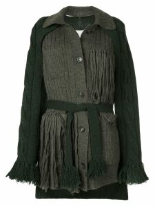 Maison Margiela deconstructed fringed cardigan - Green