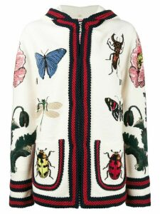 Gucci embroidered hooded cardigan - Multicolour