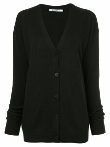 T By Alexander Wang twisted sleeve cardigan - Black