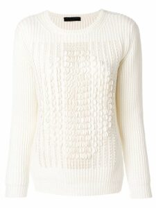 Fabiana Filippi jumper with scalloped trim - White