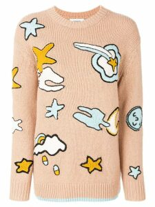 Coach Outerspace intarsia jumper - Neutrals