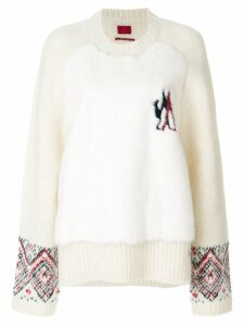 Moncler round neck jumper - Neutrals