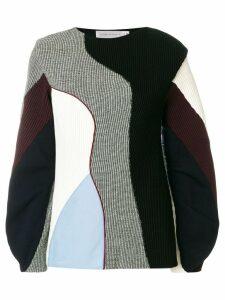 Victoria Beckham ribbed colour-block jumper - Multicolour
