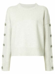 Nili Lotan button sleeves jumper - Grey