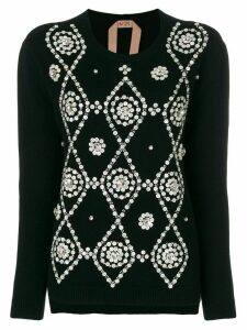 Nº21 button embellished jumper - Black
