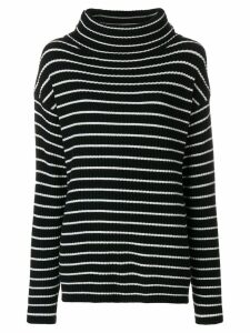 The Gigi striped roll neck jumper - Black