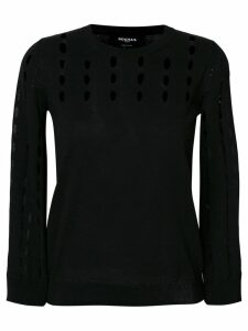Rochas cut-detail fitted jumper - Black