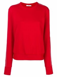 AREA crystal side-stripe jumper - Red