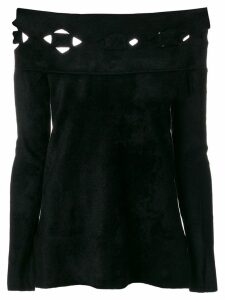 D.Exterior laser cut detail jumper - Black
