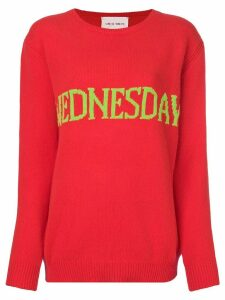 Alberta Ferretti Wednesday intarsia jumper - Red