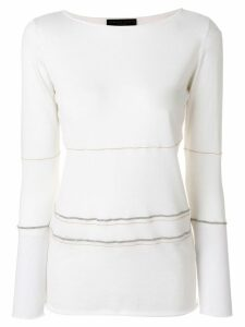 Fabiana Filippi jumper with metallic stripes - White