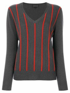 Cashmere In Love Sanem striped jumper - Grey