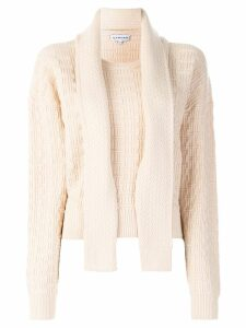 Carven geometric texture jumper - Neutrals