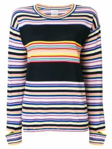 Barrie striped fine knit sweater - Multicolour