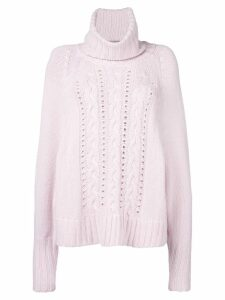 Ermanno Scervino turtle neck knitted jumper - Pink