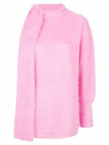 Nº21 asymmetric tie neck jumper - Pink