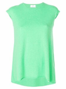 Allude cap-sleeve cashmere jumper - Green