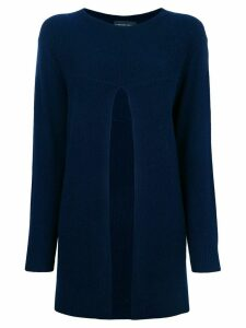 Cashmere In Love Sade slit sweater - Blue