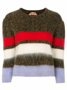 Nº21 striped jumper - Brown