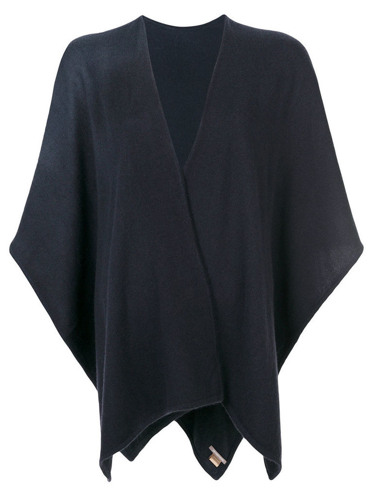 Hemisphere cashmere knitted cape - Blue