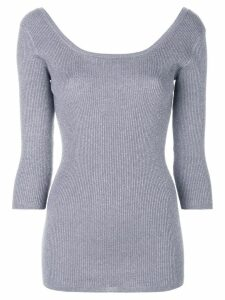 Prada metallic ribbed top - Grey