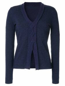 Onefifteen twist front knitted top - Blue