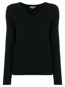 N.Peal cashmere V-neck jumper - Black