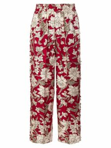 La Doublej floral print trousers - Red
